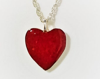 Heart Red Coral Necklace