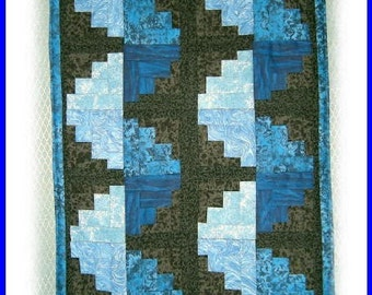 ON SALE!! Handmade Customized Unique Spiral Log Cabin Wall Quilt