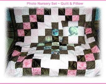 ON SALE!! Customized Photo Memory 2-Piece Nursery Set for Baby