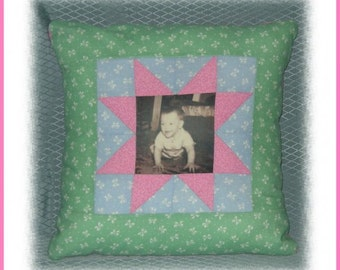 ON SALE!! Handmade Customized Home Decor Imprinted Photo Pillow