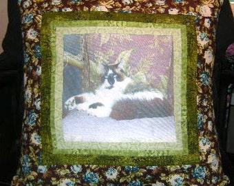 ON SALE!! Handmade Customized Home Decor Pet Photo Pillow