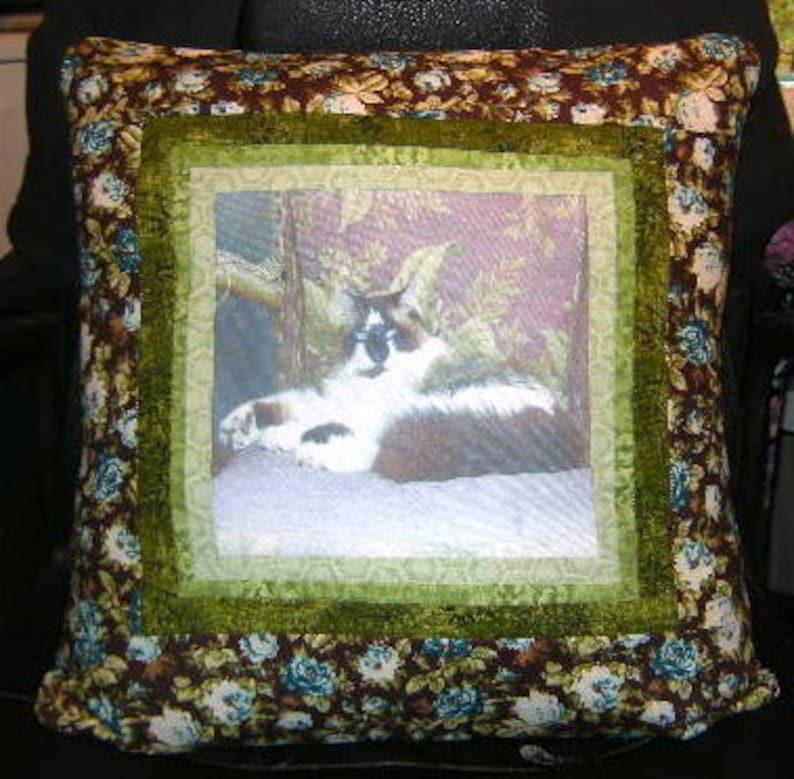ON SALE Handmade Customized Home Decor Pet Photo Pillow image 0