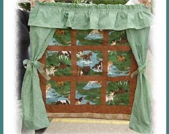 ON SALE!! Handmade Customized Window Scenes Wall Quilt
