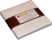 White Kona Solids Robert Kaufman Charm Pack, 42 - 100 cotton 5 quot precut fabric quilt squares