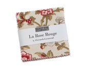 La Rose Rouge Moda Mini Charm Pack, 42 - 2.5 quot precut fabric quilt squares by French General