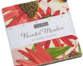 Painted Meadow Moda Charm Pack 42 - 5 quot precut fabric quilt squares by Robin Pickens