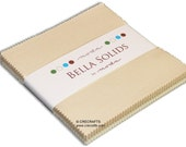 Neutrals Bella Solids Moda Charm Pack 42 - 5 quot precut fabric quilt squares by Moda