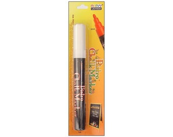 White Bistro Chalk Marker by Uchida carded Creates a dustless - smooth layer and rich water based non toxic color