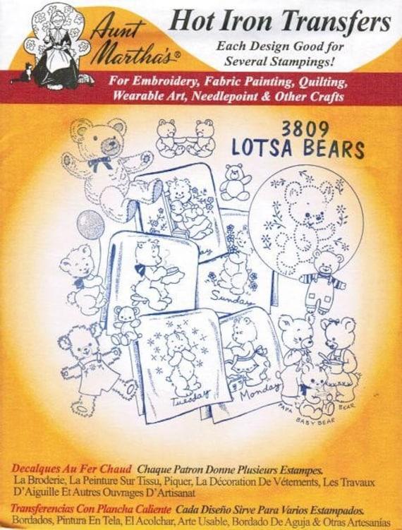 Bordados de diseños de transferencia de Lotsa osos tía Martha | Etsy