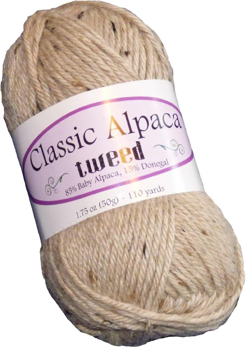 Cork 110 yds per 50g Classic Alpaca Tweed 8515/% Baby AlpacaDonegal Yarn #280 by The Alpaca Yarn Company