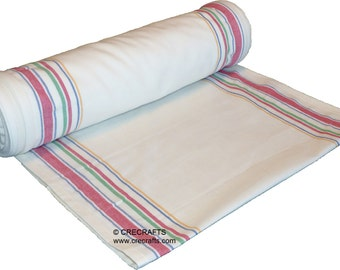 16 inch Toweling Multi Border by the Yard Moda Flour Sack make your own towels