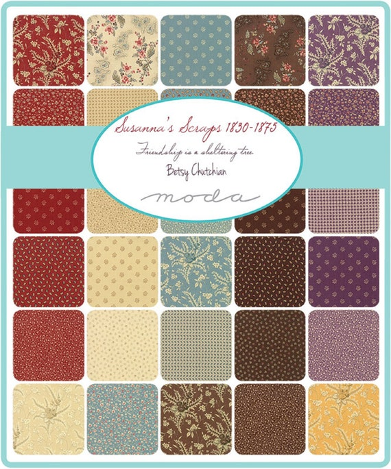 Evelyns Homestead 1880-1900 Charm Pack by Betsy Chutchian; 42-5 inch Precut Fabric Quilt Squares