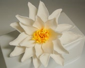 Water lily cake topper