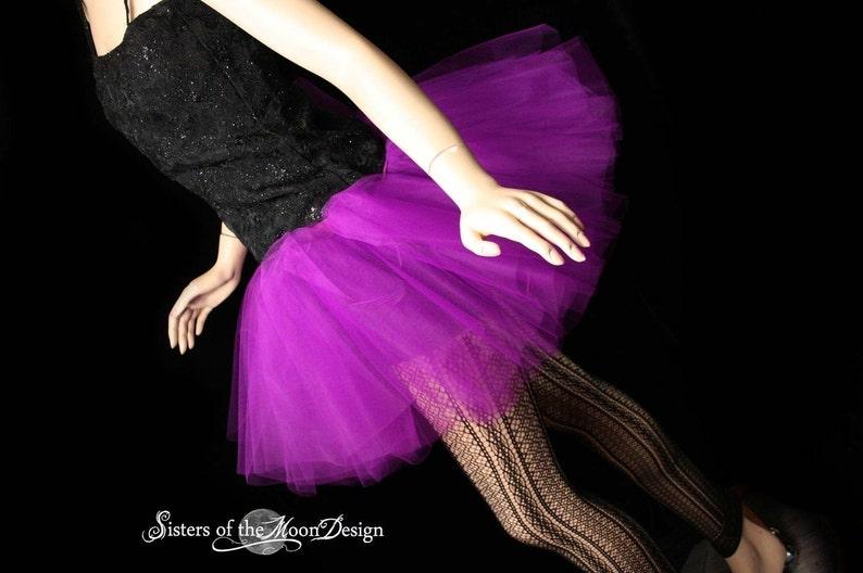 TUTU BALLET DANCER COSTUME MINI SKIRT PETTICOAT UNDERSKIRT SWAN RAVE BLACK WHITE
