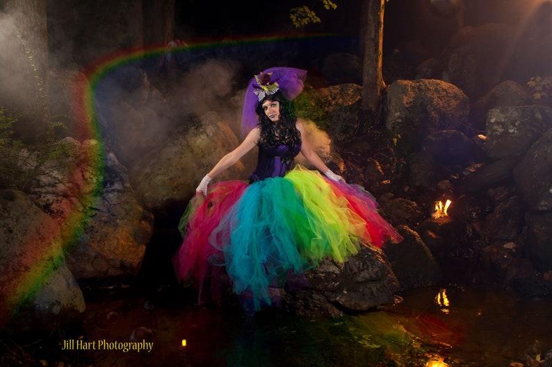 c4611abc0de2f Rainbow tutu tulle skirt Streamer floor length formal pride | Etsy