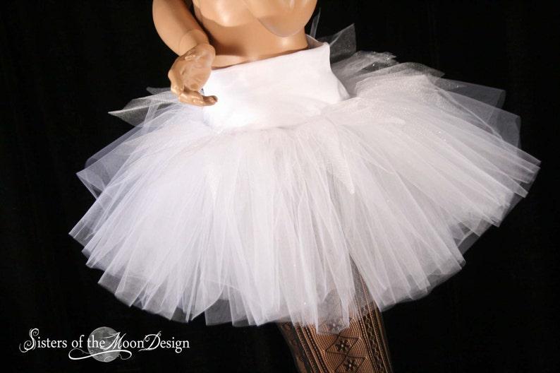 3e43db784f Winter Fairy adult tutu tulle skirt White sparkle extra poofy | Etsy