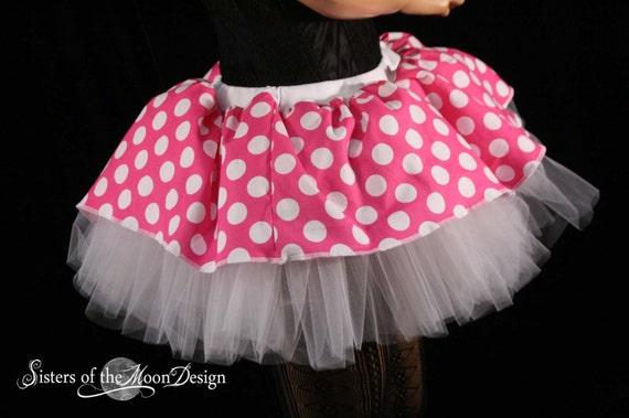 "Ladies Children in Need Polka Dot 12/"" Cyber Tutu Fancy Dress Skirt CIN"