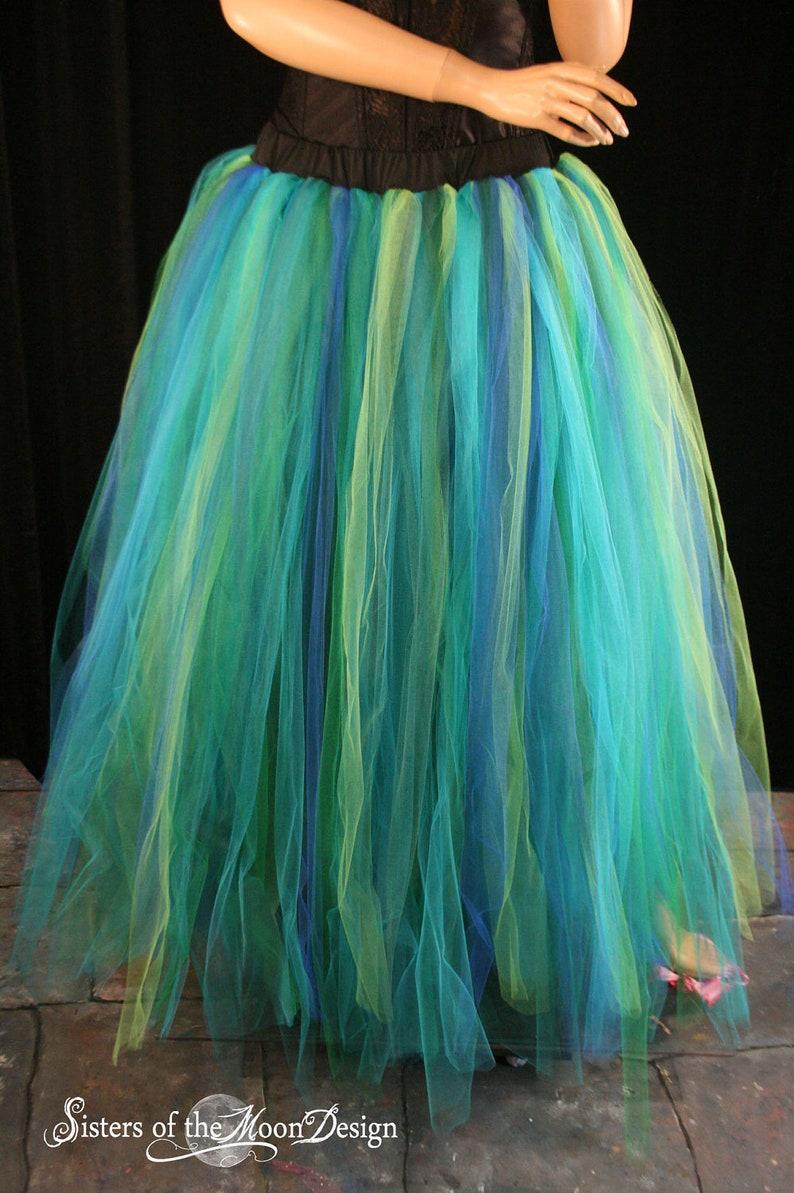 79c58acc74 Mermaid tulle tutu skirt floor length streamer formal bridal | Etsy