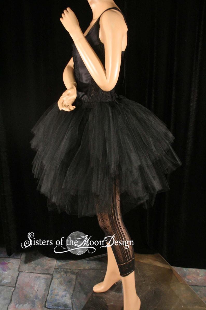 Handmade Three Layer tulle Petticoat adult tutu skirt gothic dance ballet bridal