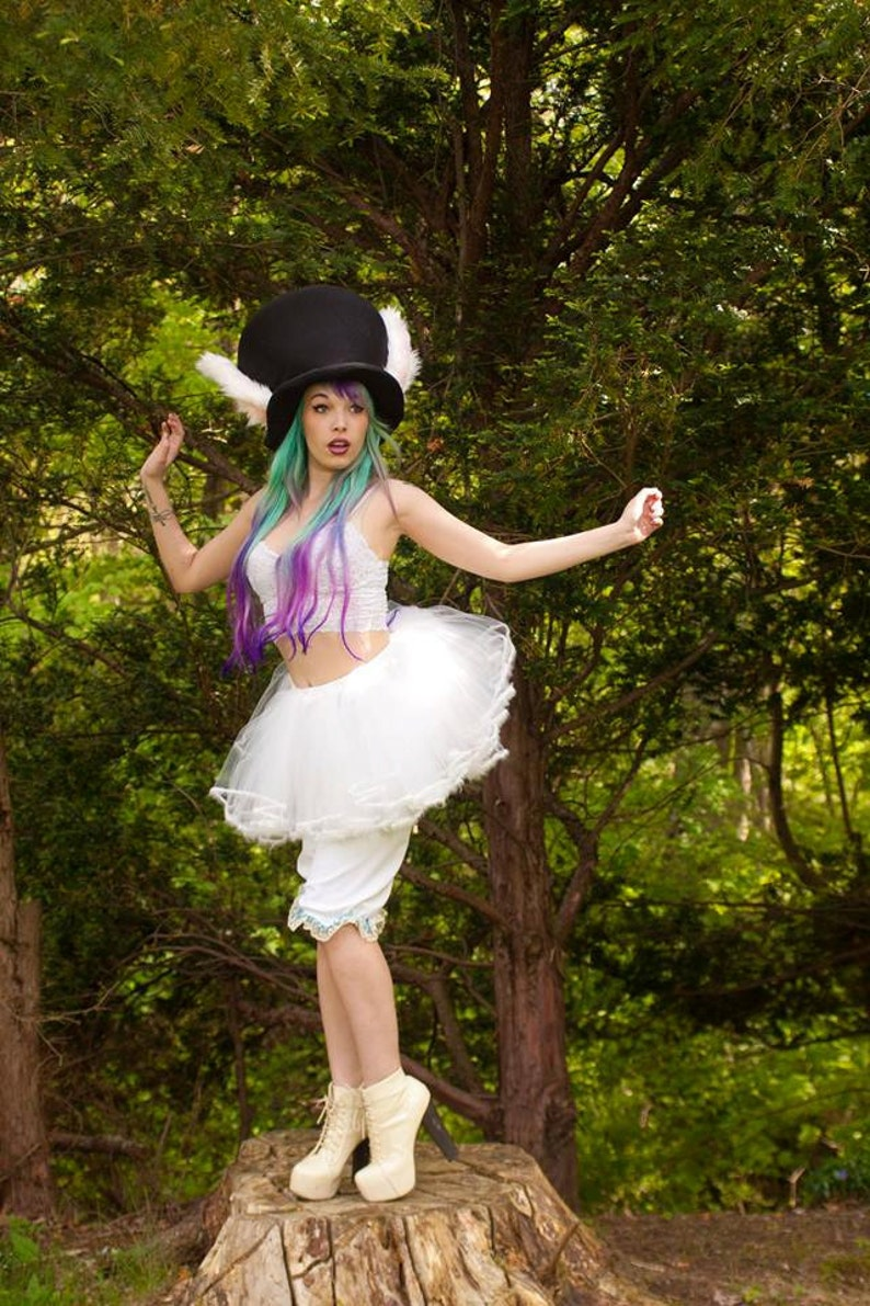 164909a13 Adult tutu skirt petticoat trimmed white rabbit costume extra | Etsy