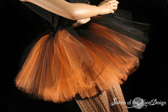 Blue Black 4layer tone tutu skirt Rave Fairy Adult Dance Party Costume Halloween
