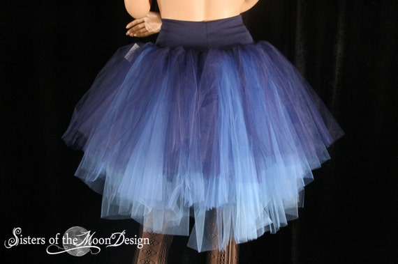 Rainbow Waterfall Long Length 7 Layer Tutu Skirt 1980/'s Accessories Fancy Dress