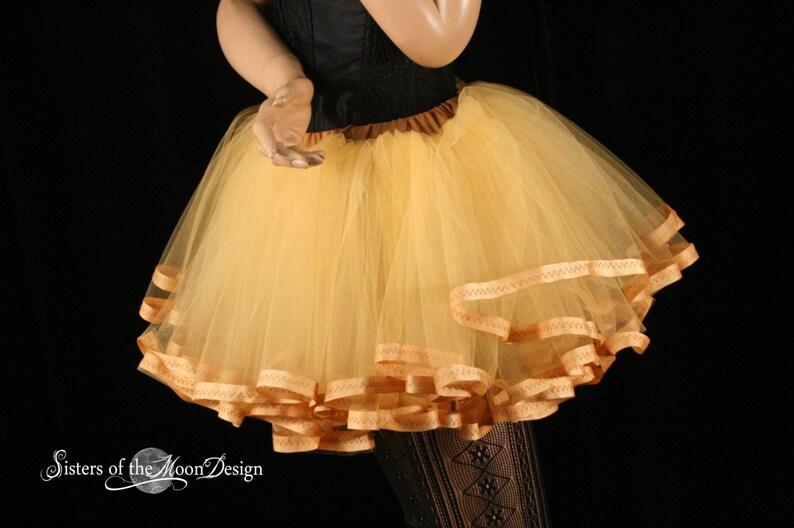 e4ab2c91d Adult tutu skirt petticoat trimmed butter cream costume extra | Etsy