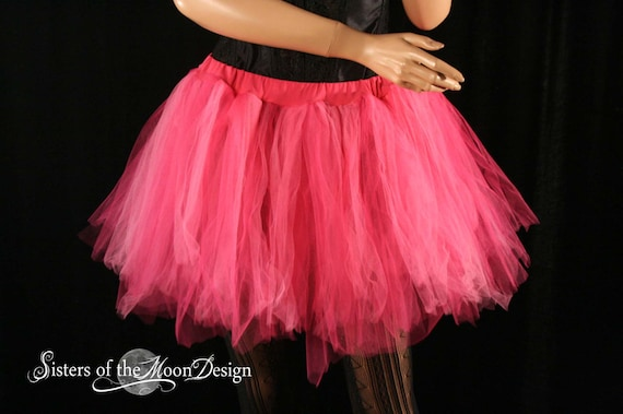 Blue Black 4layer tone tutu skirt Rave Fairy Adult Dance Party Costume Halloween