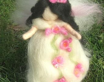 Wool Angel - Needle felted Rose GardenFairy Waldorf inspired