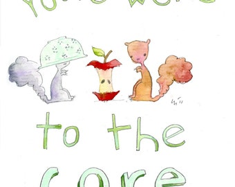 You're Weird to the Core (greeting card)