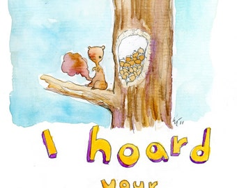 I Hoard Your Love (greeting card)
