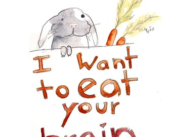 I want to eat your brains (greeting card)