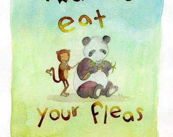 I want to Eat Your Fleas (greeting card)