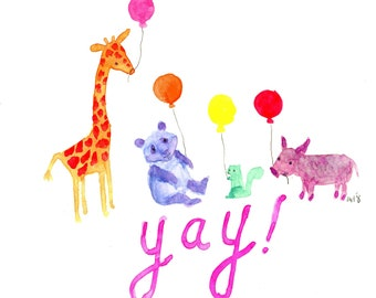 Yay! Animals with Balloons