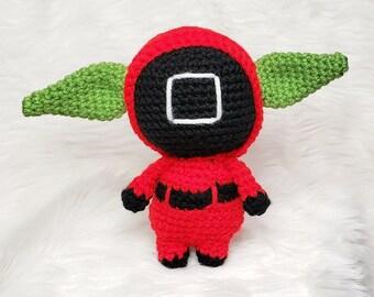 Baby Alien Plush Doll   Crochet Baby Alien   Amigurumi Crochet Baby Alien Doll   The Child Plush doll Squid Game