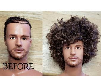 TABLOACH Custom WIG for your Male Ken doll 8985A