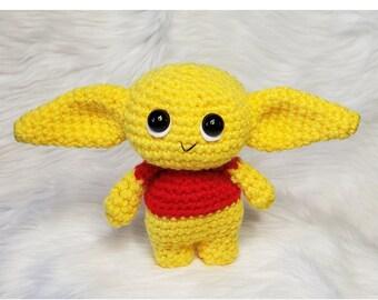 Baby Alien Plush Doll   Crochet Baby Alien   Amigurumi Crochet Baby Alien Doll   The Child Plush doll Pooh