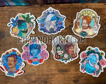 Critical Role Oversized Stickers- 7 piece set PLUS extra mystery sticker and 5x7 art!!    Geek Gift   Gamer   DND   RPG