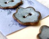 midsummer flower buttons- ceramic
