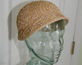 Vintage 1930's Sequin and Ribbon Cloche Woman's Hat