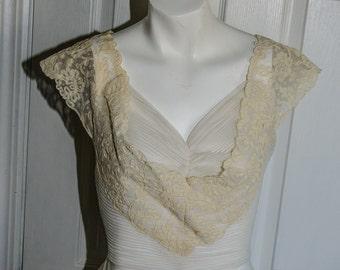 SALE Vintage 1950's Soutache Lace Blouse Shirt