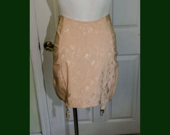 9bd0a84f1c Vintage 1950 s Charmode Peach Cotton Rayon Girdle Burlesque
