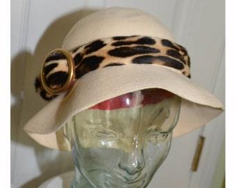 Vintage 1960's Designer Adolfo Woman's Cloche Hat