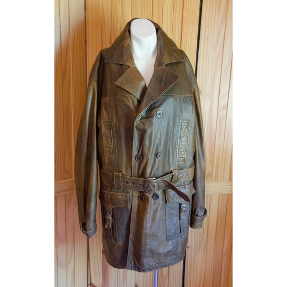 Vintage Men's 1950's Saks Fifth Avenue Brown Leath