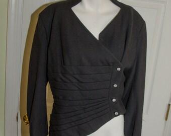 SALE Vintage 1950's Lilli Ann Asymetrical Wool Suit Jacket