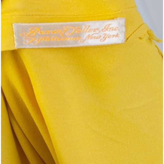 Vintage 1930's Yellow Crepe Woman's Bonwit Teller… - image 8