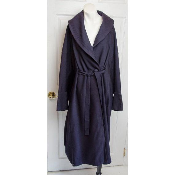 Antique Woman's Dark Navy Blue Cocoon Coat Jacket