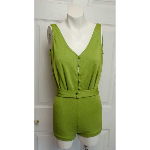 Early 1960's Woman's One Piece Bathing Suit by Cat