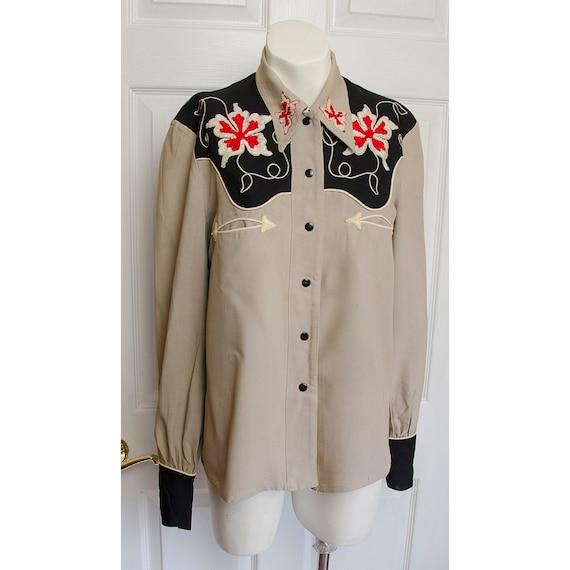 Rare 1940's Pennys Gabardine Woman's Western Shirt