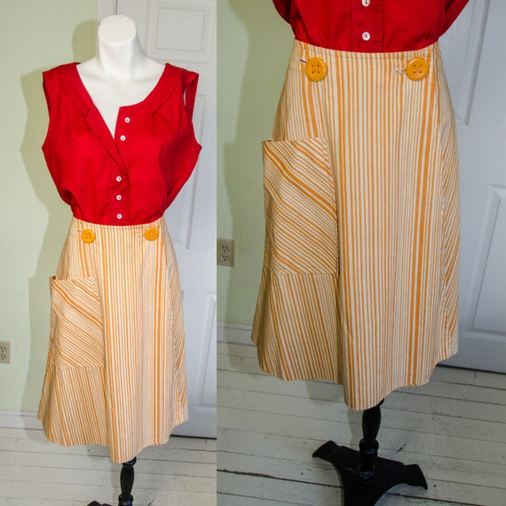 VIntage 1950's Saks Fifth Avenue Yellow Striped Wr